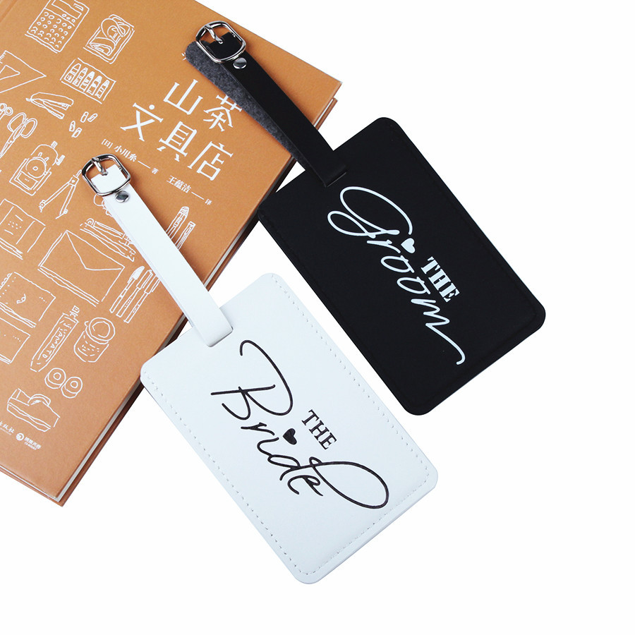Hot New 1 Pcs Bride&Groom Suitcase Luggage Tag Bag Pendant Travel Accessories Name ID Address Wedding Label