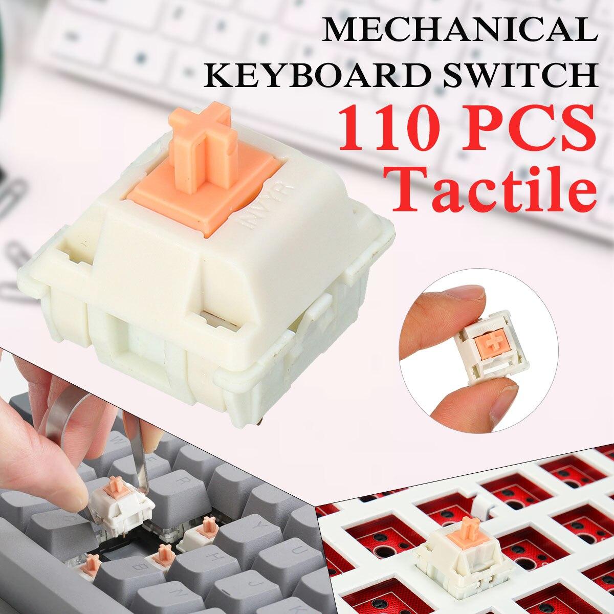 FEKER 110 Keys Like Holy Panda 3 Pin Mechanical Switch Keyboard Replacement  Mechanical Keyboard Shaft Body DIY Accessories