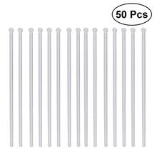 50Pcs Transparent Cocktail Drink Bar Muddler Round Head Stirring Mixing Sticks Ladle Stirrer Swizzle Stick Coffee Cocktail