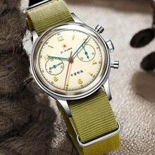 Retro Sapphire mężczyźni mechaniczne zegarki ST1901 ręczne nakręcanie Nylon NATO pasek 1963 Air Force Pilot zegarki na rękę