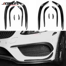 Lamp-Cover Front-Bumper-Fender Airvent-Splitter Fog-Light Mercedes-Benz Trim Carbon-Fiber-Look