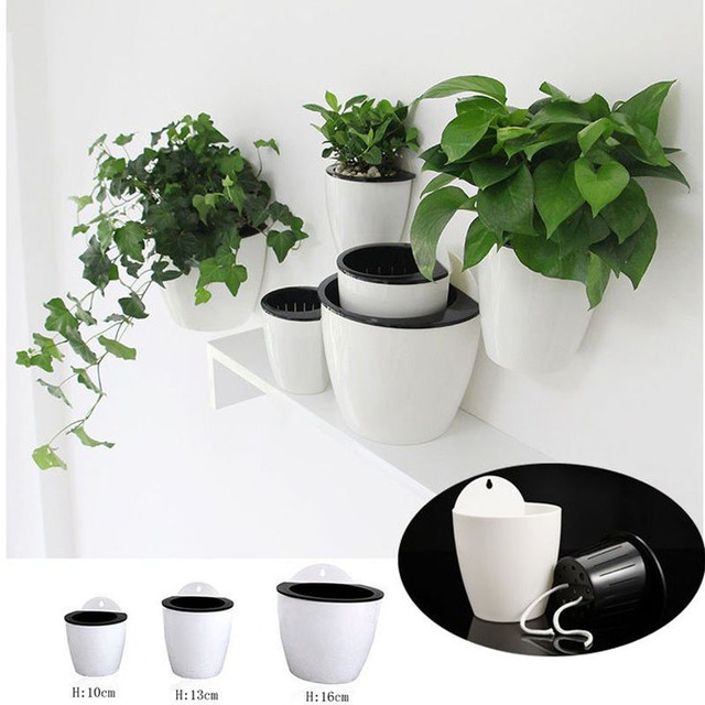 Hanging Plant Pot Self Watering Garden Wall Mounted Hanging Planter Basket Basket Basket Flower Creative Plastic Decor Supply 1