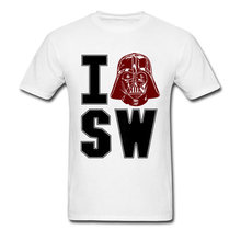 I Love Star Wars Top T-shirts Hip hop Icon Oversized O Neck The Greatest Showman Fabric Tops & Tees T Shirt for Men Summer(China)