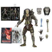 NECA Original Movie AVP Aliens vs Predator Jungle Hunter Predator Action Figure Toy Horror Gift