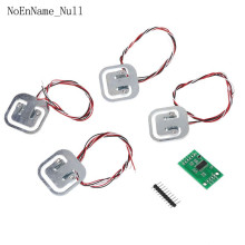 4pcs 50kg Human Scale Load Cells & HX711 AD Module Kit Resistance Strain Weight Sensor Measurement Tools 5set hx711 weighing weight sensor electronic scale ad module dual channel 24 bit a d conversion metal shied beus load cell