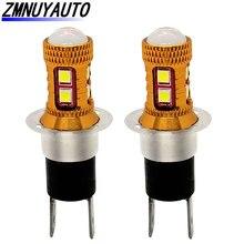 2PCS H3C 슈퍼 밝은 3030 8SMD 12V 1200LM 자동차 조명 안개 램프 하루 램프 운전 하루 실행 램프 헤드 라이트 자동 전구 White6500K