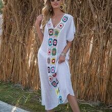 Women Beach Dress Cover-Ups Swimsuit Cover Ups 2021 Beachwear Bathing Suit Swim Cape For Woman Summer Tunic