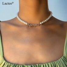Lacteo в богемном стиле блестящие стразы буквы кулон ожерелье
