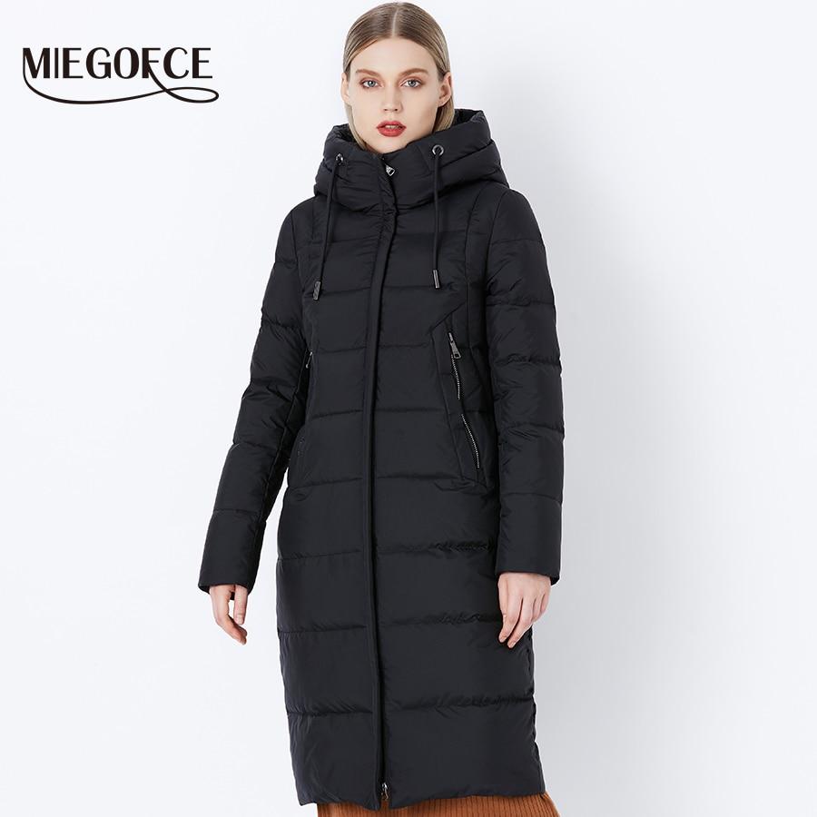 MIEGOFCE 2019 Winter New Collection Bio Fluff Hooded Women's Winter Coat Parka European Style Warm Stylish Women's Winter Jacket