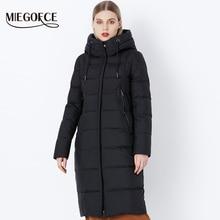 MIEGOFCE 2019 hiver nouvelle Collection Bio peluches à capuche femmes manteau dhiver Parka Style européen chaud élégant femmes veste dhiver