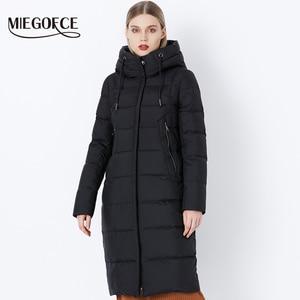 Image 1 - MIEGOFCE 2019 hiver nouvelle Collection Bio peluches à capuche femmes manteau dhiver Parka Style européen chaud élégant femmes veste dhiver