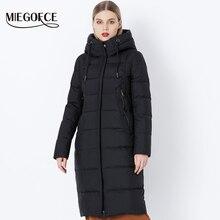 Miegofce 2019 inverno nova coleção bio fluff com capuz casaco de inverno feminino parka estilo europeu quente à moda jaqueta de inverno feminino