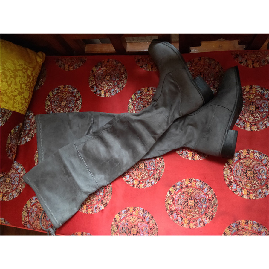woman Suede Overknee boots Womens shoes
