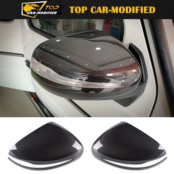 Free Shipping Carbon Fiber Side Rearview Mirror Cap Cover Trim for Mercedes Benz G Class G500 100% Carbon Fiber Car Accessories