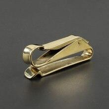 Boucles en cuivre bricolage en laiton porte-clés taille ceinture boucle EDC outils de plein air porte-clés