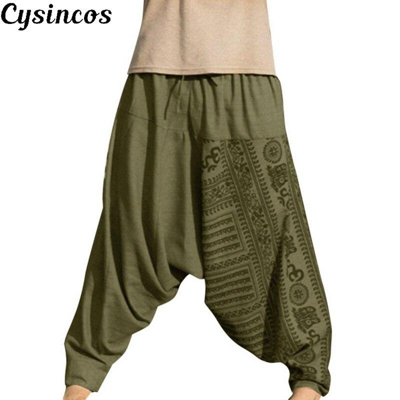 CYSINCOS Harem Pants Jogger Trousers Streetwear Print Casual Hip-Hop Long Loose Nationality