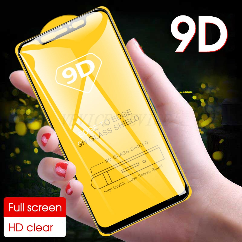 9D Premium Tempered Glass For Xiaomi Redmi Note 8 Pro 8T Full Protective Film For Xiaomi Mi 8 Lite Redmi 8 8A Screen Protector