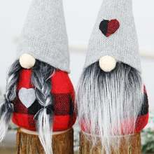 Рождественский Безликий гном кукла Санта Украшение Висячие украшения