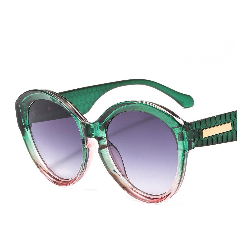 retro women's trend brand sunglasses fashion round big box sunglasses UV400 men and women Gradient glasses