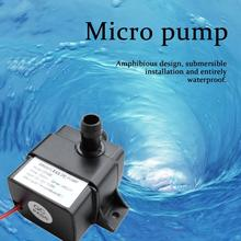 Mini Ultra-Quiet Water Pump DC 12V 4.2W 240L/H Flow Rate Waterproof Brushless Pump Mini Submersible Water Pump QR30E