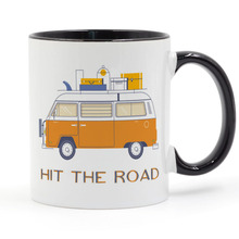 Hit the Road Adventure Is Calling Road Trip Coffee Mug Ceramic Cup Gifts 11oz road trip
