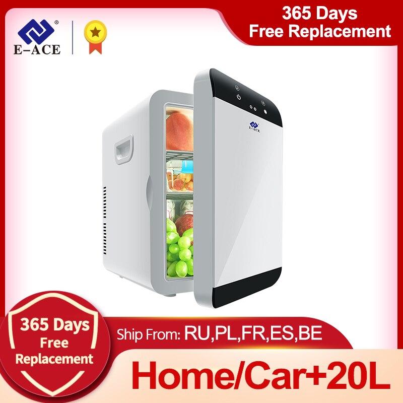 E-ACE M08 автомобильный холодильник с низким уровнем шума, мини-холодильник с морозильной камерой, охлаждающая коробка, холодильник для хранен...