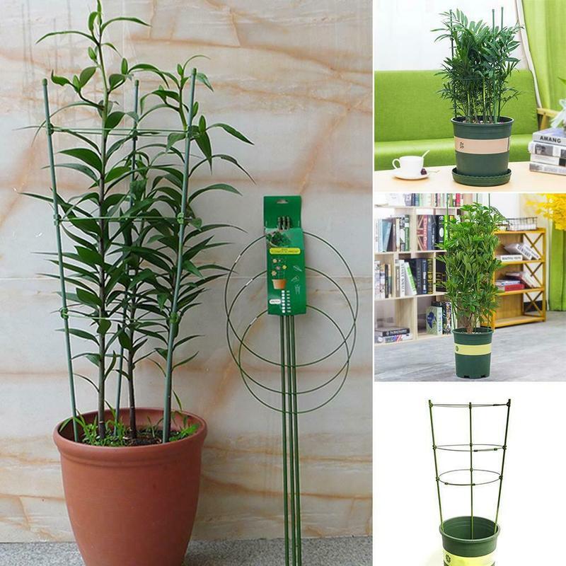 Plastic Flower Plant Support Frame Hanging Vines Vegetables Shelf Clips Rings Clematis Climbing Rack Stick Cage Garden Ornament