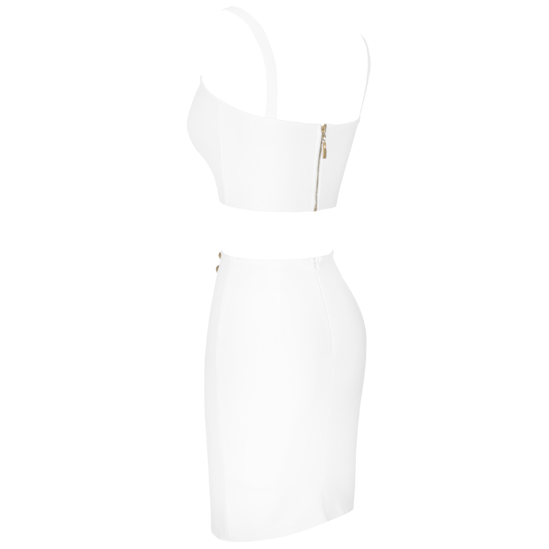 Ocstrade Summer 2 Piece Bandage Dress 2019 New Airrival Women Rayon White Bandage Dress Bodycon Mini Sexy Two Piece Set Outfit (6)