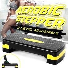 100 кг Фитнес Степ для занятия аэробикой Регулируемый нескользящий кардио Йога педаль шаговый тренажерный зал тренировки Фитнес Степ для за...