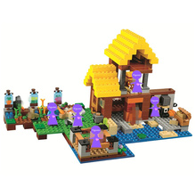The Farm Cottage Building Blocks Sets Bricks Movie Classic Model Kids Minecrafted Toys For Children цена