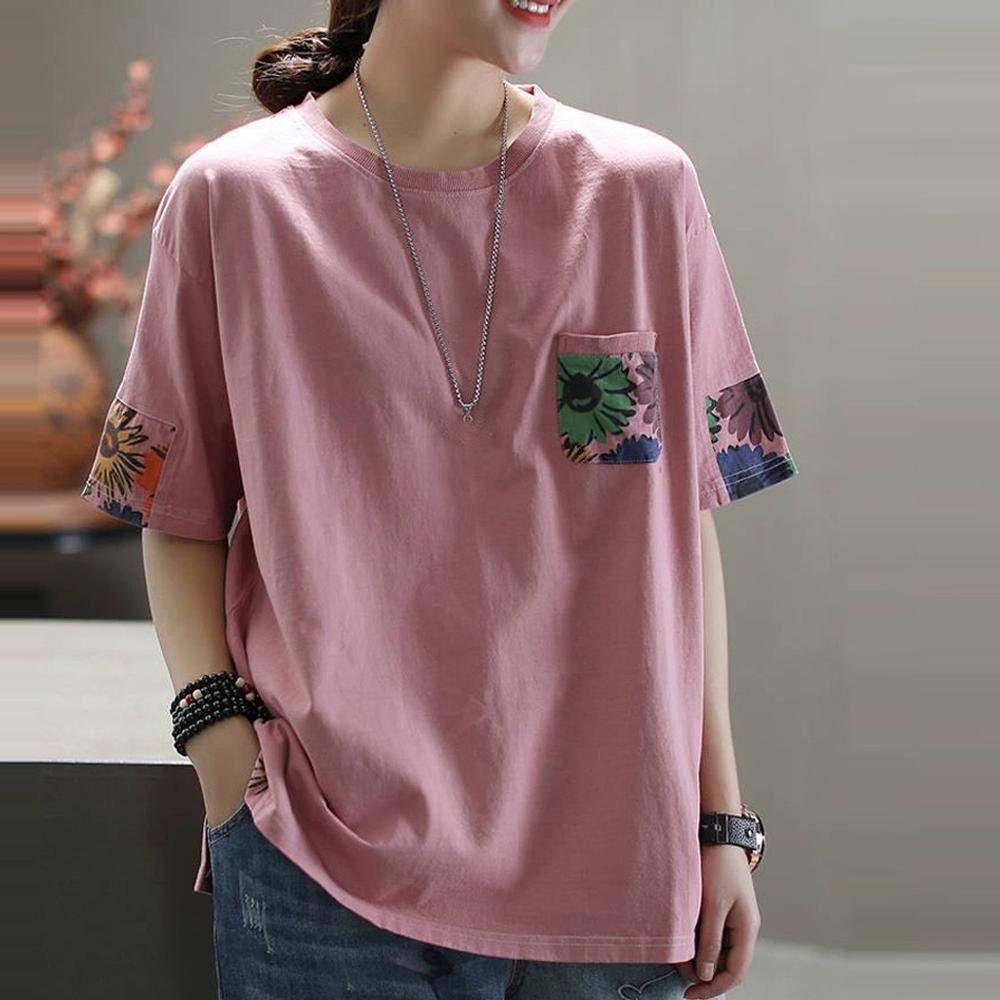 Женские футболка женская Модные Топы harajuku, футболка винтажные футболки с круглым вырезом и цветочным принтом, свободные повседневные топы с короткими рукавами 2020|Футболки|   | АлиЭкспресс