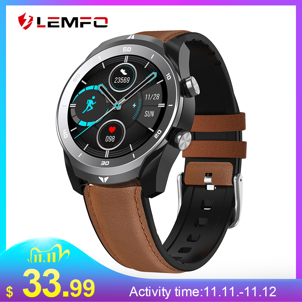 LEMFO DT79 ECG Smart Watch Men IP67 Waterproof Bluetooth Call 360 360 HD Resolution 560Mah Big Battery Business Smartwatch