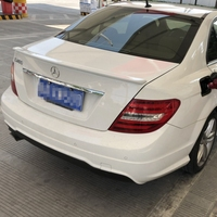 For Benz W204 C180 C200 C260 C280 C300 C74 ABS Plastic Unpainted Color Rear Spoiler Wing Trunk Lid Cover Car Styling