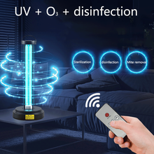 Disinfection lamp household VU ultraviolet ozone sterilization remote control timing EU / US plug quartz