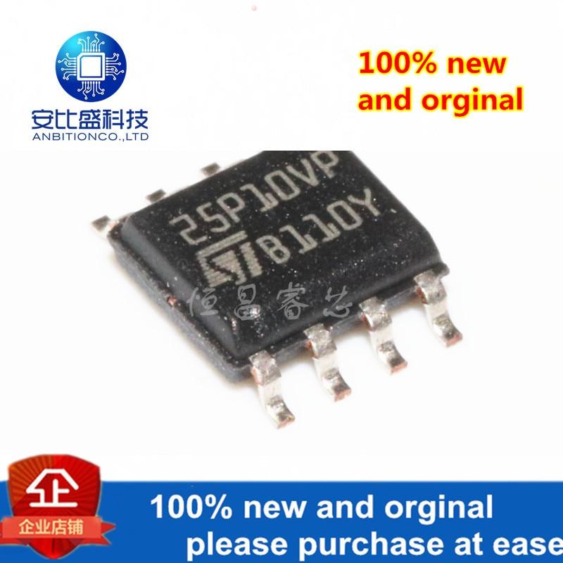 10pcs 100% New And Orginal M25P10-AVMN6TP Silk-screen 25P10VP 25P10 1Mbits SOP8 In Stock
