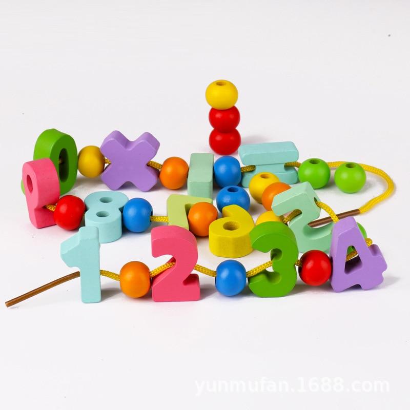 Children Stereo With Numbers Bead Toy ENLIGHTEN Early Education Threading Building Blocks Hand-Eye Training Kindergarten Bead-st
