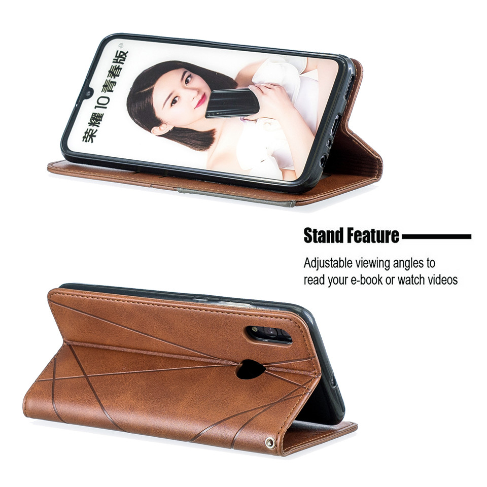 Hcaa71276cd464ea1b4161339c97713b5A For Huawei Honor 10 Lite Case Leather Wallet Flip Cover Soft Silicone Case for Honor 10i 9X 8A 8S Magnetic Case Card Holder