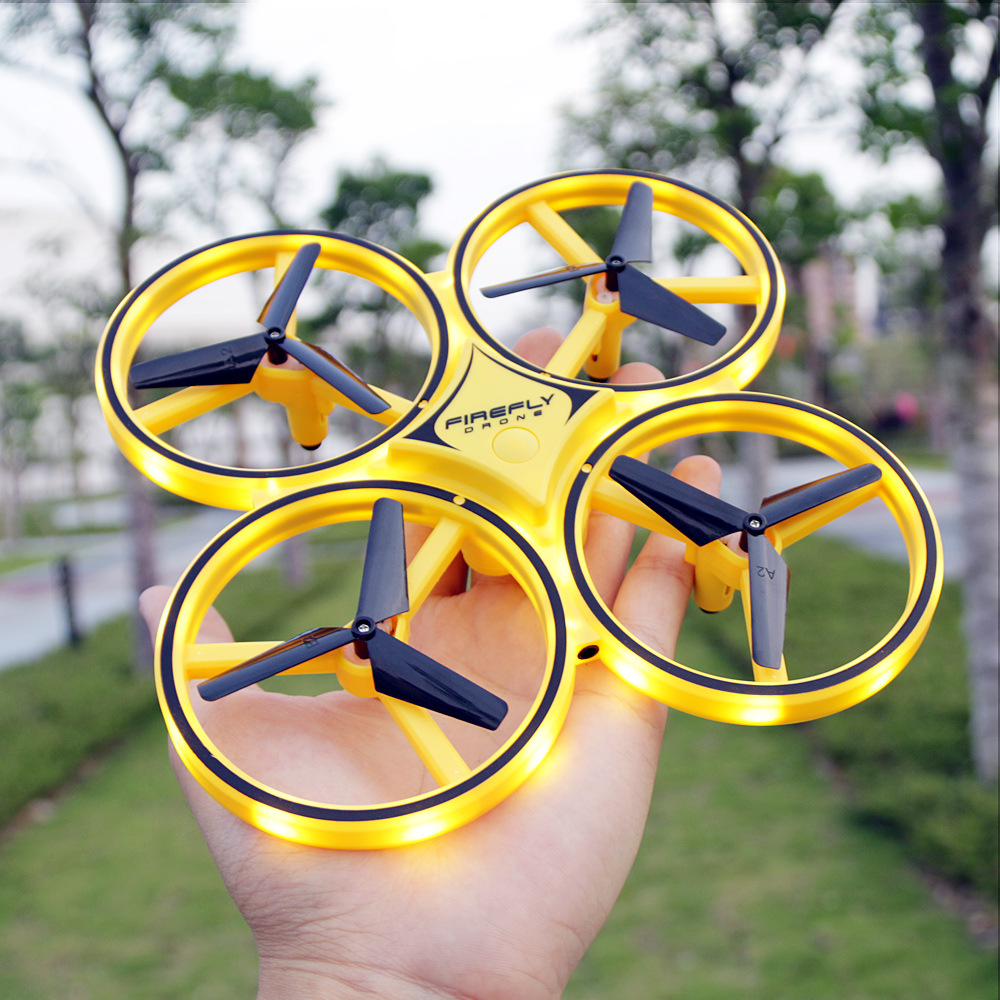 Douyin Hot Sales Aircraft Sensing Watch Unmanned Aerial Vehicle With Water Droplet Multi-functional Rolling Athletic CHILDREN'S