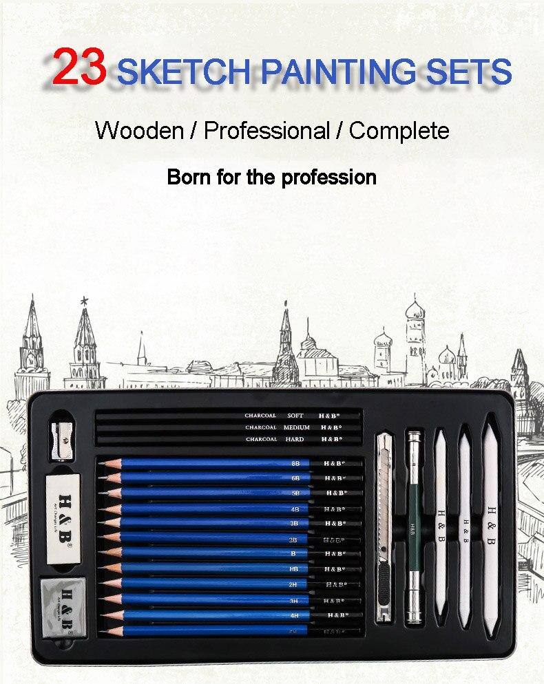 Художественный Эскиз карандаша школьные товары для рукоделия деревянные чертежные карандаши для рисования Начинающий художник угольный карандаш Lron коробка Канцелярский набор подарок