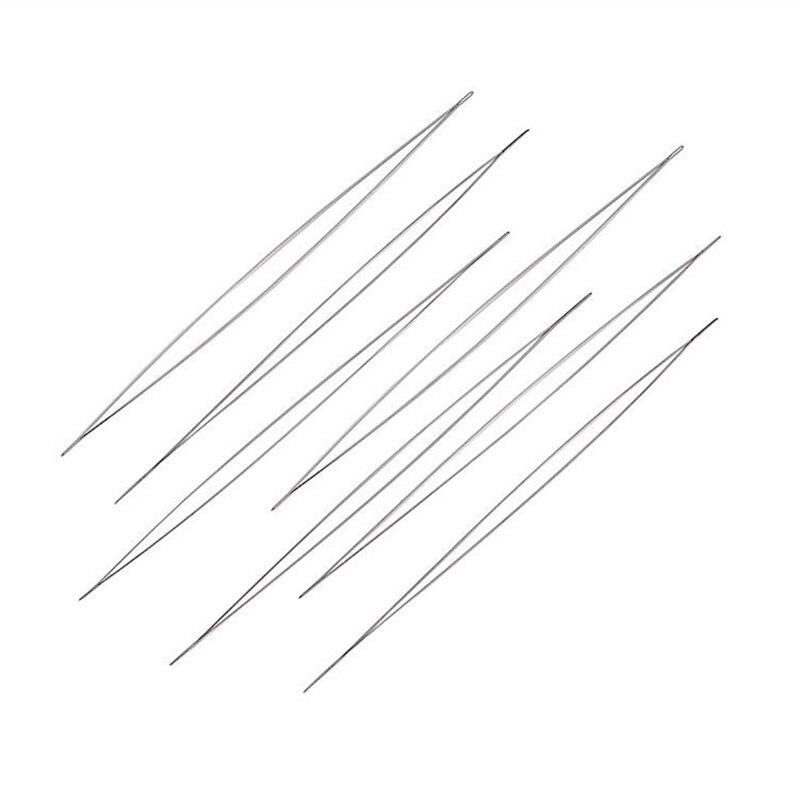 5 шт./лот иглы из нержавеющей стали для бисероплетения с большими глазками, простая нить, шнур, штифты для шнурков для рукоделия, инструменты ...