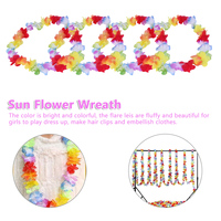 Party Supplies Beach Fun Wreath DIY Gift Wedding Decorations 100pcs Hawaiian Garland Artificial Necklace Hawaii Flowers