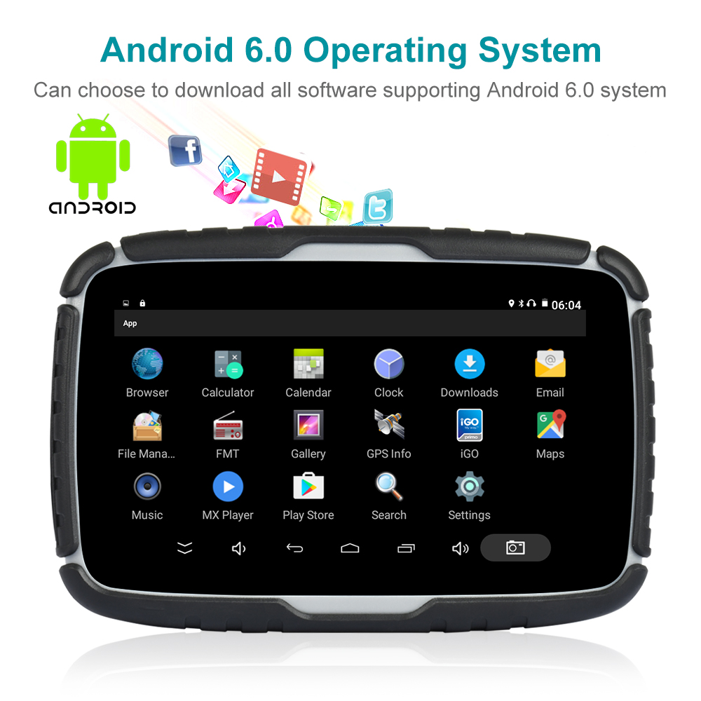 Fodsports 5 дюймов Android 6,0 Видеорегистраторы для мотоциклов GPS навигации IPX7 Водонепроницаемый Bluetooth гарнитура для Авто Мото GPS навигатор 16 Гб флэш-...
