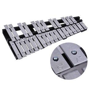 Image 5 - 30 ملاحظة قابلة للطي glockenspel إكسيليفون إطار خشبي قضبان ألومنيوم تعليمية قرع آلة موسيقية هدية