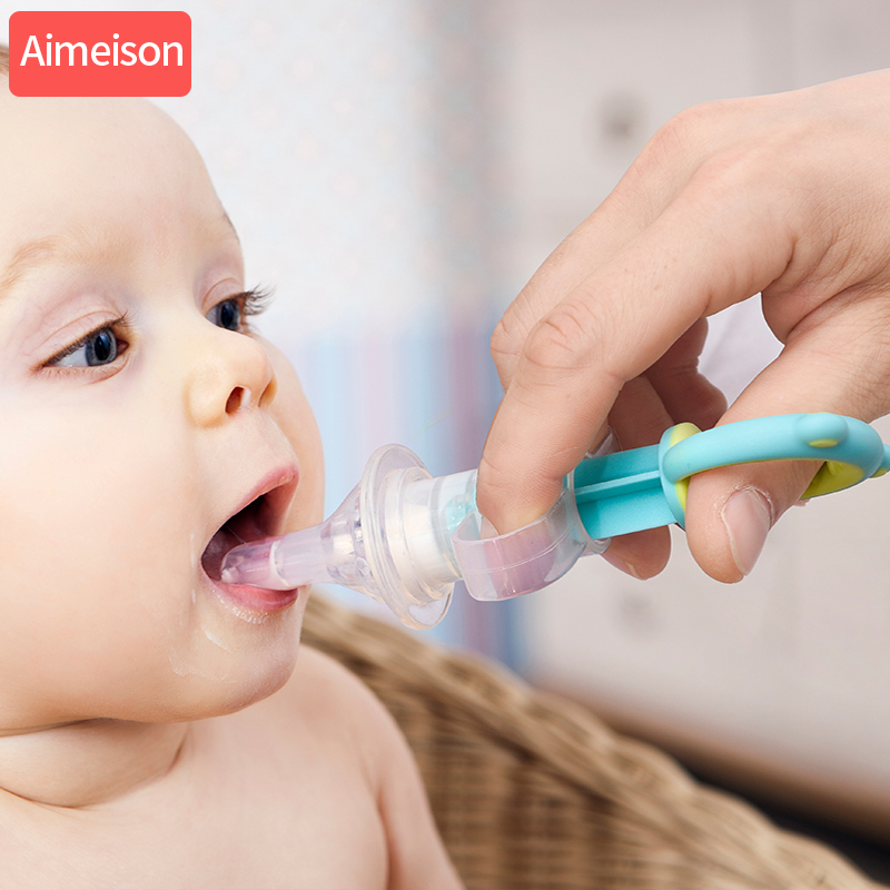 Baby kids smart medicine dispenser Needle Feeder Squeeze Medicine Dropper Dispenser Pacifier Feeding Utensils baby accessories