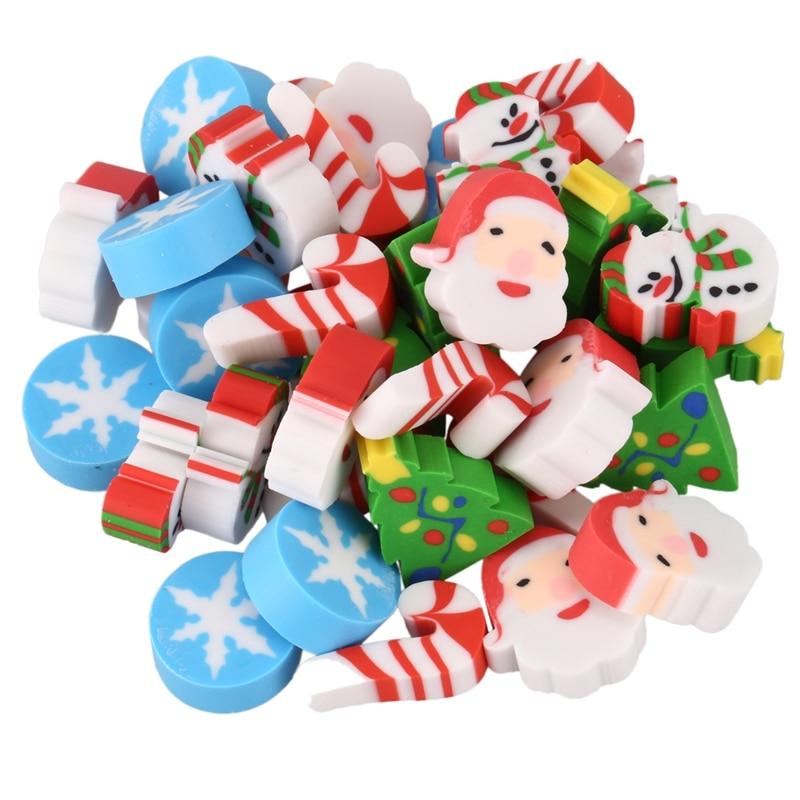 35 X Eraser Christmas Santa Claus Christmas Tree Snowflake Christmas Advent Calendar Gift