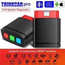 Thinkcar pro obd2 ferramenta de diagnóstico do sistema completo thinkdiag mini 15 função serviço de restauração obd2 scanner ferramenta profissional bluetooth
