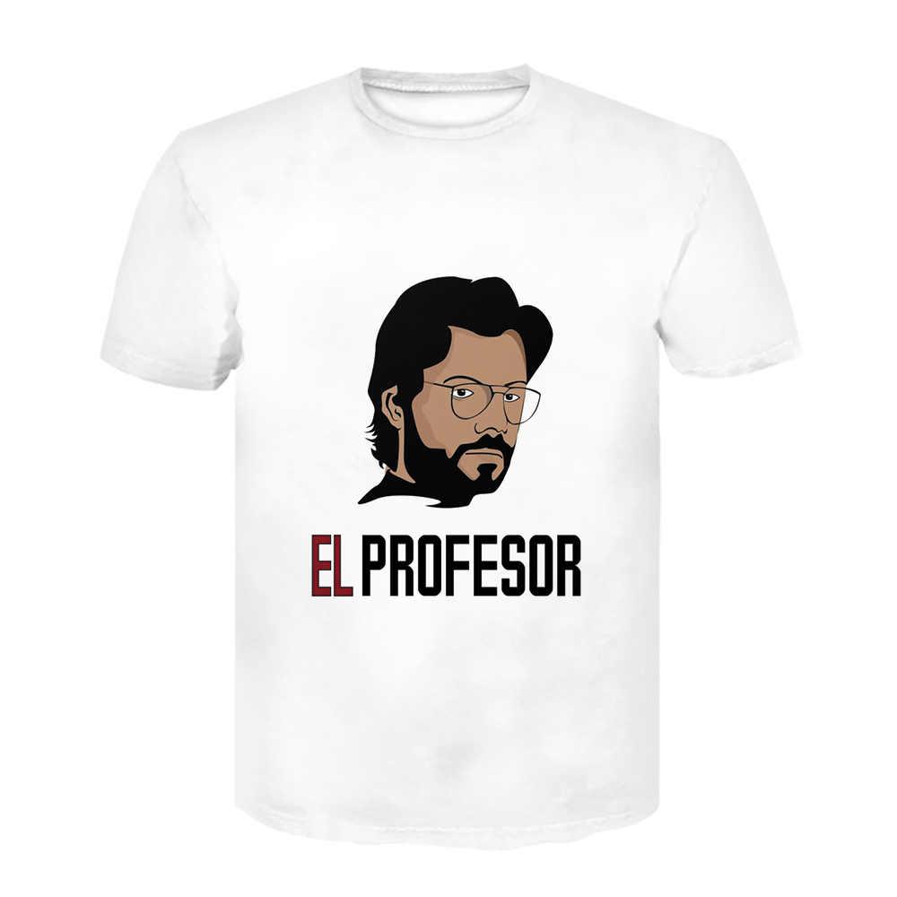 Mannen Off Wit T-shirt La Casa De Papel T-shirt Bella Ciao Tshirt Geld Heist T-shirt Grappige Korte mouw Top Tees Mannelijke 2020