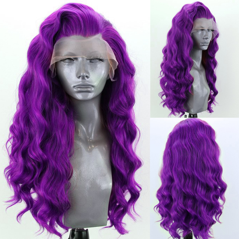 Carisma longo onda do corpo perucas para as mulheres loira peruca dianteira do laço sintético peruca de fibra de alta temperatura cabelo cosplay peruca