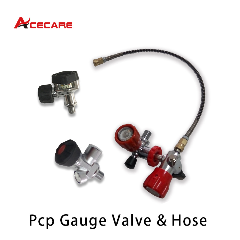 Acecare Scuba Gauge Valve Set Pcp Filling Station With Hose M18*1.5 Thread For Paintball Air Tank Pcp Air Rifle/Airsoft Condor