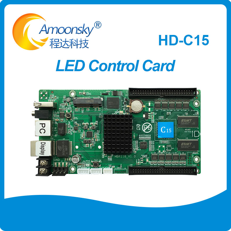 HD-C15 Asynchronous Led Screen Controller Card For Outdoor Indoor Led Screen Asyn LED Sending & Receiving Card Support 3G 4G